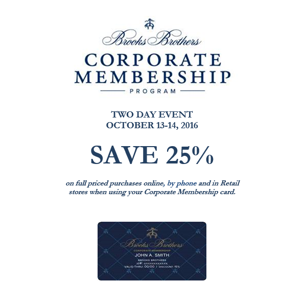 Brooks Brothers Savings Event