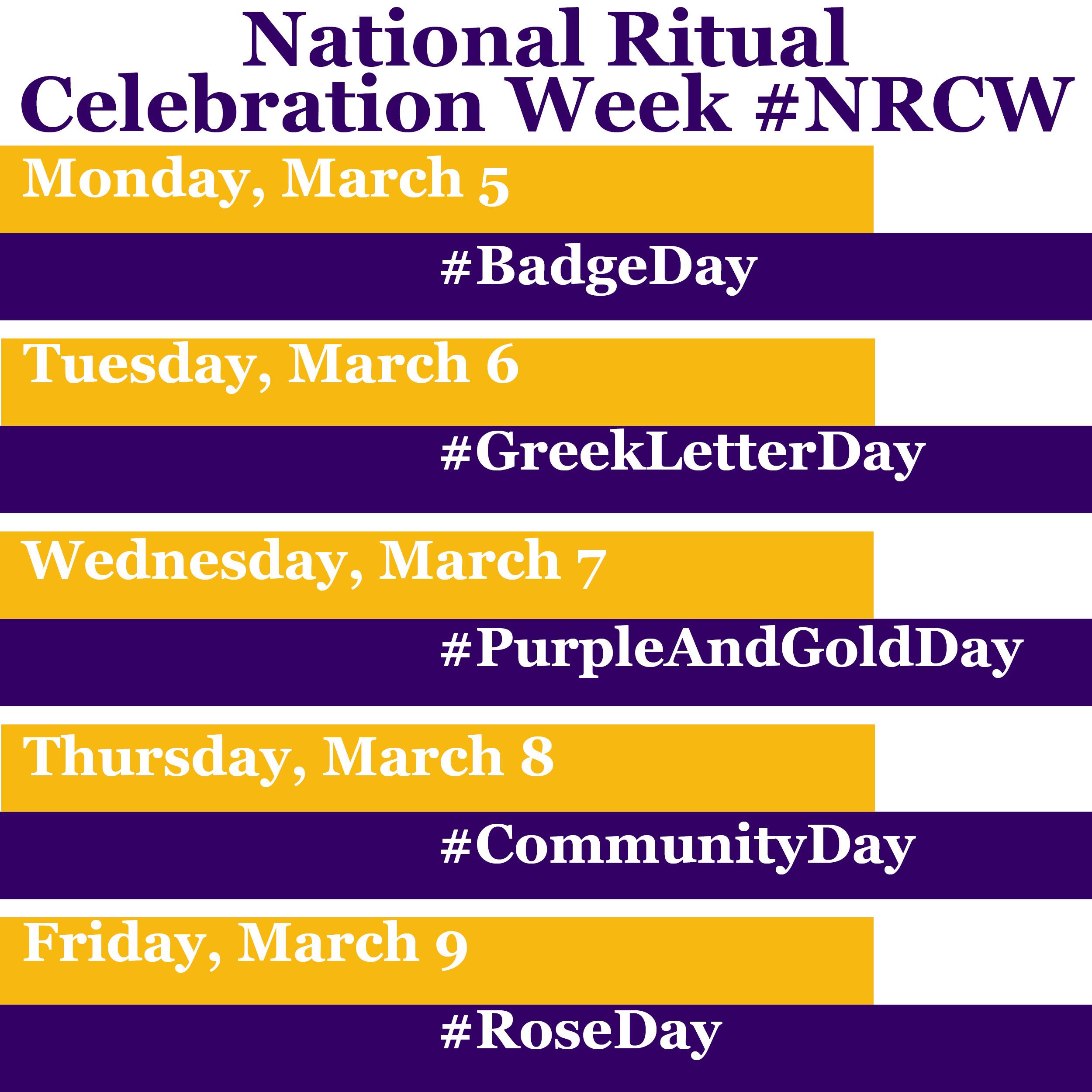 NRCW 2018 Calendar