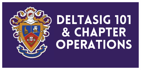 Deltasig 101 & Chapter Operations white border