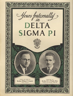 Yours Fraternally in Delta Sigma Pi