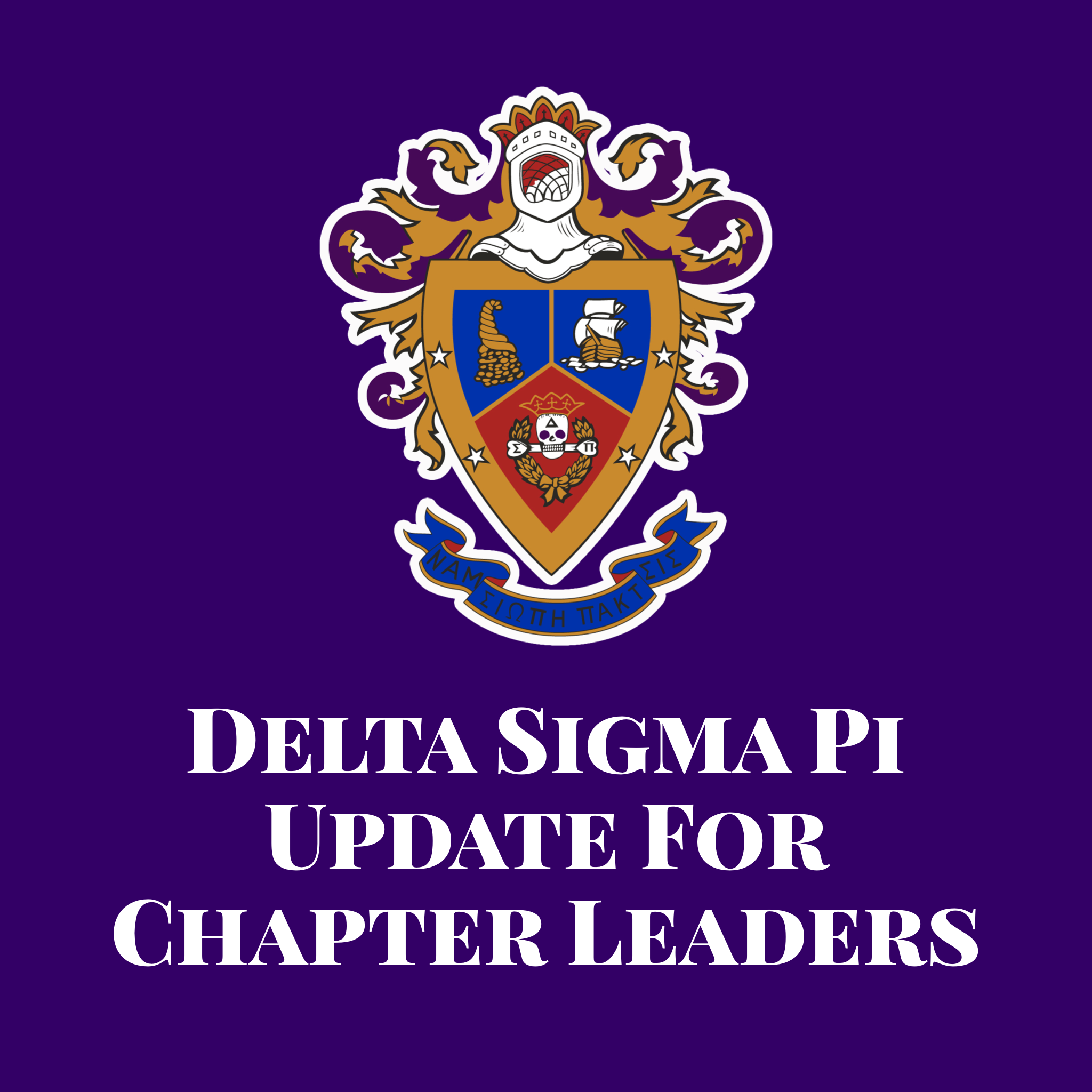Update for Chapter Leaders